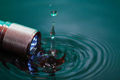 Flashlight In Water Stock Photos