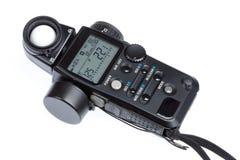 Flashmeter. Isolated studio professional flashmeter on white background Stock Image