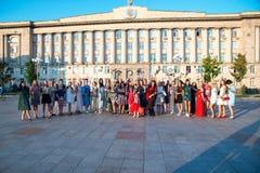 Flashmob feminino e dia da beleza Cherkasy Ucr?nia 20 de setembro de 2018 fotos de stock royalty free