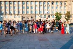 Flashmob femminile e giorno di bellezza Cerkasy l'Ucraina 20 settembre 2018 immagine stock libera da diritti