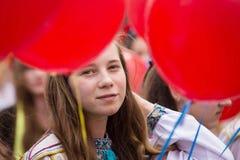 Flashmob Poppies of memory in Kyiv Stock Image