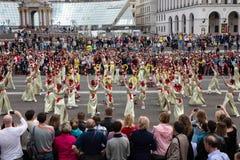 Flashmob vallmo av minnet i Kyiv Royaltyfri Bild
