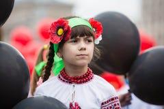 Flashmob vallmo av minnet i Kyiv Fotografering för Bildbyråer