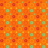 Flashy circle pa seamless pattern. Flashy circle seamless pattern. Autentic design for textile, print or digital Stock Photos