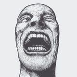 Flashy male mouth Stock Photo