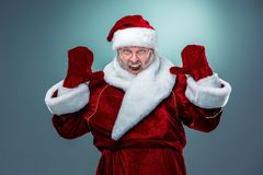 Flashy Santa Claus. Royalty Free Stock Photos