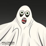 Flashy white Ghost Halloween background. Screensavers covers Stock Photography