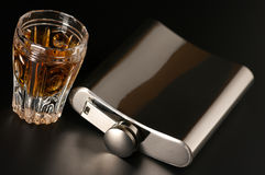 Free Flask And Cognac Royalty Free Stock Photography - 11824197