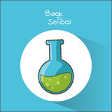 Flask of back to school design Royalty Free Stock Photography