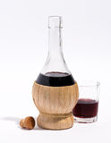 Flask or carafe of red wine Stock Image