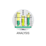 Flask Chemistry Reaction Analysis Experiment Icon. Vector Illustration vector illustration