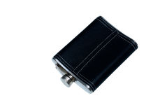 Flask for cognac. On white background Stock Photo