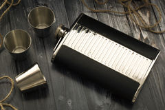 Flask for cognac Royalty Free Stock Photo