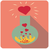 Flask with love liquid Royalty Free Stock Images