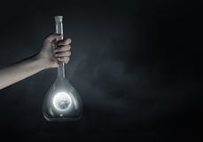 Flask and the objects in it Royalty Free Stock Image