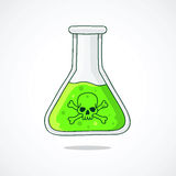 The flask with the poison. Stock Image