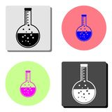 Flask. flat vector icon stock illustration