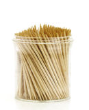 Flask with toothpicks. Isolated transparent flask with toothpicks Stock Image