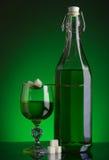 Flaska av absinthe Arkivbilder