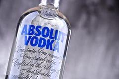Flaska av Absolut vodka Fotografering för Bildbyråer