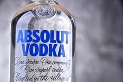 Flaska av Absolut vodka Arkivbilder