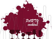 Flaska av alkoholillustrationen Arkivbild