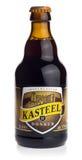 Flaska av belgareKasteel Donker öl Fotografering för Bildbyråer