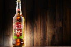 Flaska av desperadoöl royaltyfria bilder
