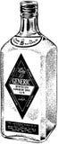 Flaska av destillerad gin vektor illustrationer