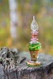 Flaska av gift, giftig kapsel, halloween fotografering för bildbyråer