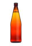 Flaska av isolerat orange exponeringsglas för öläppeljuice Arkivfoton