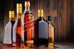 Flaska av Johnnie Walker Scotch whisky Fotografering för Bildbyråer