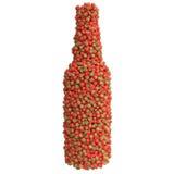 Flaska av jordgubben Stock Illustrationer