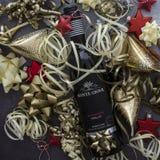 Flaska av Monte Giove Merlot rött vin royaltyfri bild