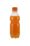 Flaska av orange fruktsaft Royaltyfri Bild