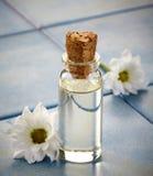 Flaska av Spa nödvändiga oljor Fotografering för Bildbyråer