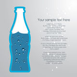 flaska av vatten Royaltyfri Fotografi