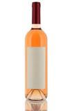 Flaska av vit wine Fotografering för Bildbyråer