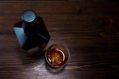 Flaska av whisky Arkivbilder