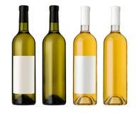 Flaska för vit wine Arkivbild