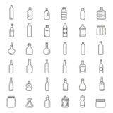 Flaska förpackande samling - vektor Arkivbild