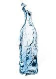 flaska isolerad vattenwhite Arkivfoto