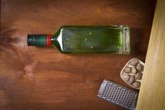 Flaska med absint Royaltyfria Bilder