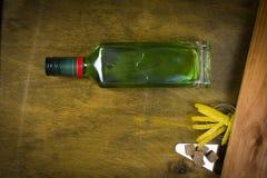 Flaska med absint Arkivfoton