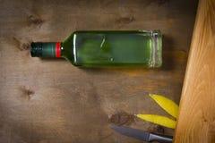 Flaska med absint Arkivbilder