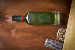 Flaska med absint Arkivfoto