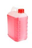 Flaska med en flytande Royaltyfria Bilder