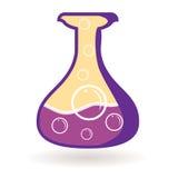 Flaska med energi Magiskt objekt Isolerad symbol Arkivbild