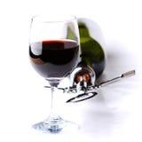 Flaska och exponeringsglas av wine Royaltyfri Fotografi