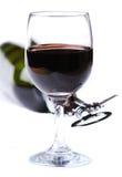 Flaska och exponeringsglas av wine Royaltyfria Foton